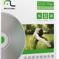 Mídia DVD-RW Multilaser 4.7GB 25 Unidades com Envelopes DV062