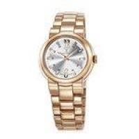 Relógio Jean Vernier Caixa Pulseira Aço 10ATM Vidro Cristal Rose