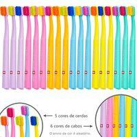 Escova Dental Ultra Soft Cs Smart Cores Sortidas Curaprox Amarela