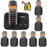 Aparelho De Telefone Fixo Sem Fio 2 Linhas Com Bina 7 Ramal