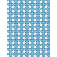 Toalha de Mesa Mainci Estrelas Bur Blue 1.20x1.60cm