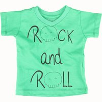 Camiseta Boo Kids Rock And Roll Verde Bandeira