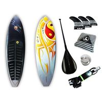 Prancha Soul Fins Stand Up Paddle Coream 100 + Acessórios Multicolorido