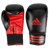 Luva Adidas Power 100 14 Oz Preto e Vermelho