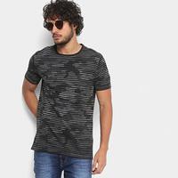 Camiseta Replay Camuflada Listras Masculina - Masculino