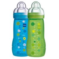 Mamadeira MAM Fashion Bottle Double Pack Boys 330 ml