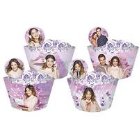 Cupcake Wrapper Regina Festas Enfeite Violetta 12 unidades