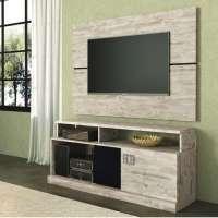 Rack Union Com Painel Dumond Hb Móveis Para Tv Até 42 2 Portas Deslizantes
