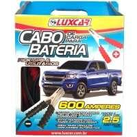 Cabo Bateria Luxcar 600A 2.5m 1520 Preto e Vermelho
