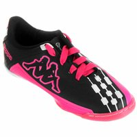 71168d66db Chuteira Kappa Brava Futsal Infantil Unissex Preta e Pink