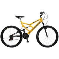 Bicicleta Colli Bike GPS Pro Aro 26 21 Marchas Dupla Suspensão Freio V-brake Amarelo
