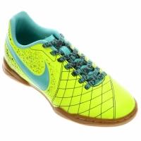 Chuteira Nike Flare 2 IC Juvenil Verde Limão e Verde Água  d2acb45e2a1ad