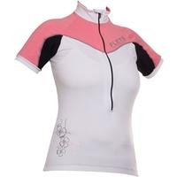 Camisa Flets Sport Ciclismo Manga Curta Feminina Rosa