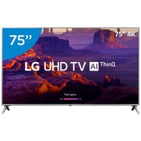 Smart TV LED 75 LG 4K 75UK6520PSA