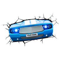Luminária de Parede 3D Light FX Carro Clássico Azul
