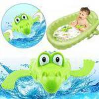 Encantador Dos Desenhos Animados Animais Natação Crocodilo Wind-up Clockwork Bebê Piscina Banho Brinquedos