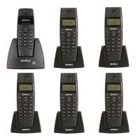 Telefone Intelbras TS40ID sem Fio com Identificador  + 5 Ramais Sem Fio Digital Ts 40 R