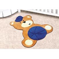 Tapete Infantil Guga Tapetes Formato Urso Azul Royal 86x72cm