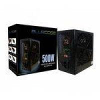 Fonte Bluecase 500W Real ATX 24 Pinos Preta BLU 500-E ATX - com cabo