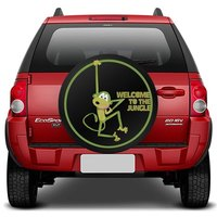 Capa de Estepe Ecosport 03 a 17 Macaco Welcome To The Jungle Com Cadeado
