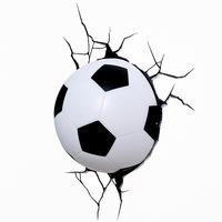 Luminária 3D Light FX de Parede Bola de Futebol
