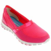 2b88f34eeb6 Tênis Skechers EZ Flex Take It Easy Feminino Pink e Branco