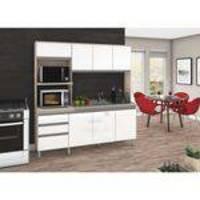 Cozinha compacta 8 portas e 2 gavetas b112 briz - fendi/branco