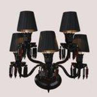 Arandela Candelabro para 5 Lâmpadas Baccarat Arquitetizze Preto