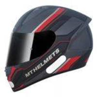 Capacete MT Stinger POLE MATT Gunmetal/Black/Red