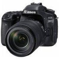 Câmera Dslr Canon Eos 80d(w) 24.2mp 3.0 Wi-Fi-nfc + Kit Is Nanousm - Preta