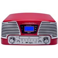 Vitrola Raveo Harmony CD Player USB SD Card Bluetooth Vermelho