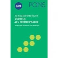 PONS Kompaktworterbuch Deutsch Als Fremdsprache