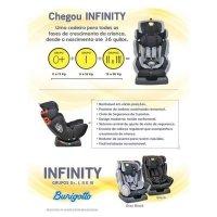 Cadeira Para Auto Burigotto Infinity 36Kg Gray Black