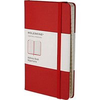Caderno de Anotações Moleskine Address Book Red Pocket