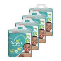 Kit Fraldas Pampers XXG Confort Sec Super 224 Unidades