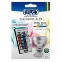Lâmpada Led Dicroica Rgb 3w Colorida 12v Controle Remoto Flc