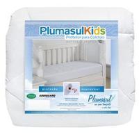 Protetor de Colchão Infantil Plumasul Impermeável Branco 70x150x20 cm