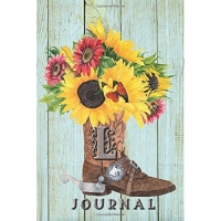 L: Journal: Sunflower Journal Book, Monogram Initial L Blank Lined Diary with Interior Pages Decorated With Sunflowers.