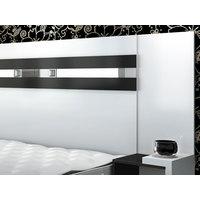 Cabeceira Casal Simbal Chevalier com Criado-Mudo para Box 140cm Branco/Preto