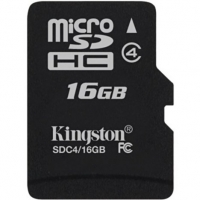 Cartao de Memoria SD Kingston 16GB Class 4 Sem Adaptador