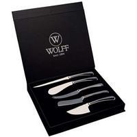 Conjunto de Facas para Queijo Bon Gourmet Wolff Inox 5 Pçs