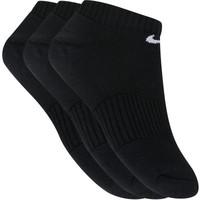 Meia Nike Swoosh Invisível Kit com 3 Pares Unissex Preto