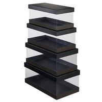 Conjunto de Caixas Organizadoras Coza 99185/0008 Preto 4 Peças