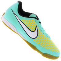 acb7e5b845 Chuteira de Futsal Nike Magista OLA IC Infantil Masculina Verde Claro e  Branca