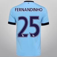 Camisa Nike Manchester City Home 14 15 número 25 Fernandinho  c9a82cb5ad8af
