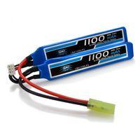 Bateria Airsoft LiPo 7.4V 2S 1100mAh 20C/40C