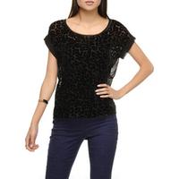 Camiseta Shoulder Devore Feminina