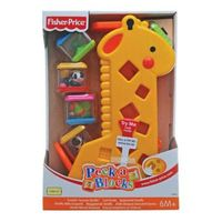 Girafa Pick-a-Blocks Macaco Tampa Rosa  Fisher Price