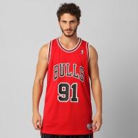 Camiseta Regata Adidas Classics Chicago Bulls Rodman Masculina Vermelha e1a9adf9ad3