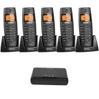 Telefone sem Fio Voip/Ramal TS60IPR Intelbras Icorp + 5 Ramais sem Fio Preto
